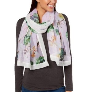 Cejon Womens Chiffon Floral Cover Up Wrap Scarf On